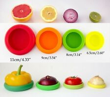 4 pcs Silicone Food Huggers Four Sizes Silicone Caps,Food Storage,Food Saver