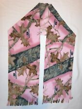 MOSSY OAK PINK BREAK UP CAMO PRINT  FLEECE SCARF - SOFT- WARM HANDMADE