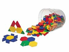 Learning Resources Plastic Pattern Blocks 0.5cm (Set of 250)