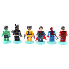 6X MINI Hero Marvel The Avengers Batman Collection Animation Toys DIY