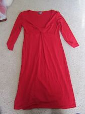Red Olian maternity dress Medium V Neck Twist Front 3/4 Sleeve Valentine's Day