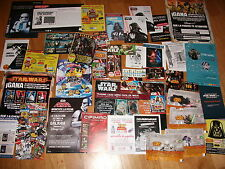 72 ITEMS STAR WARS SPAIN SPANISH PROMOS CARDS FLYERS PUBLICIDAD CARDS SHEET RARE