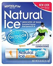 12 Pack Natural Ice Lip Protectant/sunscreen Sport SPF 30, 0.16oz Tube Each