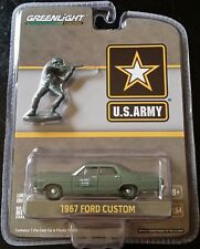 greenlight us army 1967 ford custom with figure 1/64 scale 29883