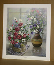 Peaceful Thoughts Fred Thrasher Roses Still Life Crocheting Kentucky Artist