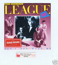 45 RPM SP JUKE BOX HUMAN LEAGUE DON'T YOU WANT ME