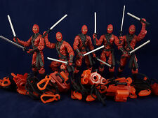G.I. JOE Retaliation Red Ninja Lot x5 Loose New 25th Anniversary 50th PoC