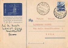 4170) TODI (PERUGIA) GIAC GIOVENTU' ITALIANA DI AZIONE CATTOLICA. VG NEL 1950.