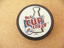 Colorado Avalanche Get Cup Crazy puck NHL In Glas Co