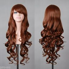 Free Shipping Charming Long brown Hair Curly Cosplay Wig USA STOCK