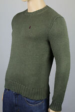 Polo Ralph Lauren Small S Green Crewneck Sweater Burgundy Pony NWT