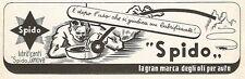 W9521 Lubrificanti SPIDO - Genova - Pubblicità del 1938 - Old advertising