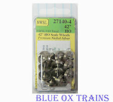 "NWSL 27140-4 HO Athearn 3/32"" Half-Axle 42"" Wheelsets (Replaced 37140-4)"