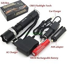 flashlight 2000 Lumens High Power Torch Zoomable led flashlight(WATERPROOF)