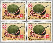 Österreich Austria 1739 Viererblock 50 J. Katholisches Farbstudententum 1983 **