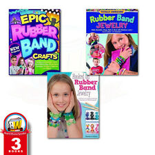 Rubber Band Loom fun 3 Books(Epic Rubber Band Crafts)Collection Set brand new UK