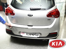 KIA CEED 5D JD 2012- Rear Bumper Profiled Protector Stainless Steel Cover
