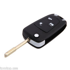 Flip Remote Car Key Shell Case for Ford Mondeo Fiesta Focus 3Buttom Round Blade