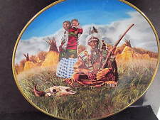 Franklin Mint Amer Indian Heritage Foundation FAMILY OF THE PLAINS Ltd Ed Plate