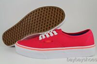 VANS AUTHENTIC LOLLIPOP RED/NEON CORAL PINK ORANGE/WHITE CLASSIC US WOMEN SIZES