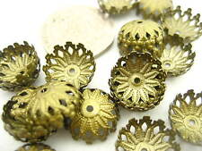 Je6 20PS Bronze Petal flower Bead Cap ends DIY Jewelry Accessory Bead Bracelet