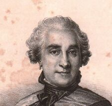 Portrait XIXe Maréchal de Saxe Maurice de Saxe Goslar Lithographie 1833
