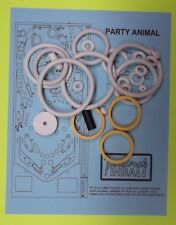 1987 Bally / Midway Party Animal pinball rubber ring kit