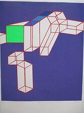 ACHILLE PERILLI LITOGRAFIA 70x50cm circa 1980 HANDSIGNED