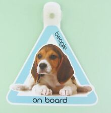 On Board Dog Car Sign Beagle on Board Suction Cap provided