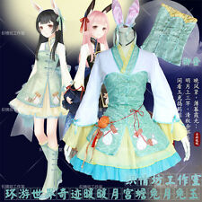 Chinese style Rabbit Sweet Lolita Dress Miracle Nikki HanFu Cosplay Costume #L65