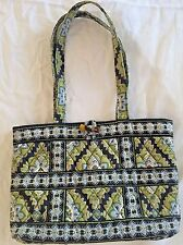 Vera Bradley Purse Cambridge Retired Pattern Fall 2007 Toggle Button Quilted Bag