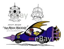Hanna Barbera STYLE GUIDE PLATE - WACKY RACES - The MEAN MACHINE Dick Dastardly