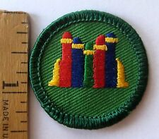 Retired Girl Scout 2001-2011 Junior BOOKS BADGE Reading Library Literacy Patch