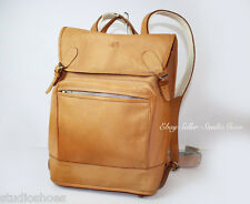 VTG Scandinavian Style Tan Leather Waist Strap Backpack Rucksack Bag Lightweight