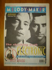 MELODY MAKER 1991 SEP 14 ELECTRONIC NIRVANA MANICS