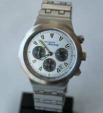 VW Volkswagen Racing Watch Men´s Chronograph / Silver Dial / Stainless Steel