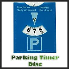 Disabled Person Parking Disc Plastic Timer Clock For Blue Badge Permit New Uk
