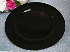 """13"""" Black Charger Plate-Set of 6 (Black, Silver, or Gold)"""