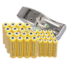 32x AA+AAA Ni-MH Rechargeable Battery Free USB Charger