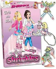 19 GIRLS WITH BLING EMBELLISHMENTS SHRINKLES SHRINKIE SHRINK ART BUMPER BOX SET