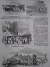 Puente Reina Victoria Britannia Anglesey Conway y Shrewsbury 1852 Impresiones Antiguas