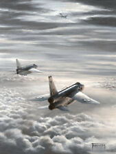 "English Electric Lightning Aviation Painting Art Print - 23 Squadron - 14"" Print"