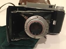 VINTAGE Folding KODAK TOURIST II CAMERA with Leather Case, Check It Out
