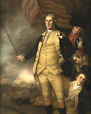 Revolutionary War Art - George Washington Battle of Princeton Real Canvas Print