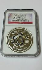 2013 Australia S$1 Lunar Year Of The Snake Colorized PF 69 Ultra Cameo