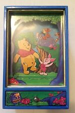 "RARE ""Winnie The Pooh & Piglet Dance"" Music Box Cabinet w/ Drawer~WORKING VIDEO~"