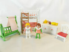 Playmobil Victorian Pink & White Bunk Bed Nursery Room, Doll house Kids Bedroom