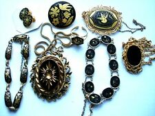 Antique jewellery/Jewelry, Damascene, Shibiuchi,Gold,Silver,Bronze,Collectables