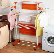 3 Tier Large Deluxe Indoor Clothes Airer Foldable Laundry Drying Dryer Rack New