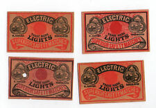 VERY OLD match box labels CHINA or JAPAN patriotic  #203